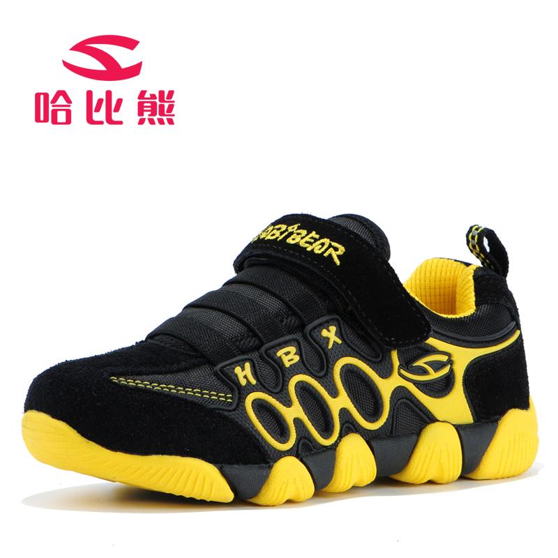 哈比熊儿童鞋男童鞋女童鞋春秋季儿童鞋子牛皮儿童运动鞋休闲鞋男潮