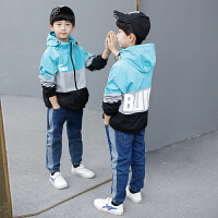 男童外套儿童中大童薄款春装男孩冲锋衣