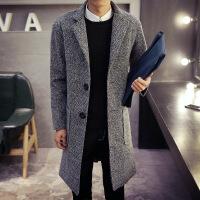 冬装毛呢大衣男中长款韩版修身呢子风衣