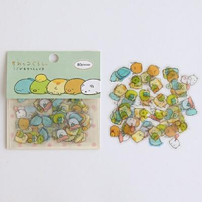 中国可爱动物卡通手机金属手帐贴纸包手账个性贴纸装饰小贴画卡通套装