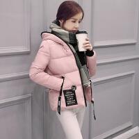 加厚羽绒棉服女2017新款女装韩版修身加厚大毛领学生显瘦羽绒服外套