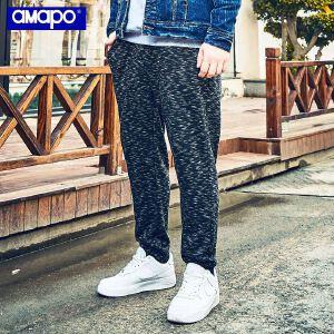 【限时抢购到手价:96元】AMAPO潮牌大码男装胖子肥佬加肥加大运动休闲系带束脚卫裤长裤男