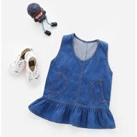女童背心裙春秋2-6一岁婴儿春装连衣裙小儿童裙子1-3女宝宝牛仔裙