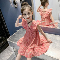 女童夏装连衣裙2019新款儿童装小女孩吊带格子裙超洋气网红公主裙