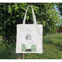 韩国简约帆布包女单肩手提包环保购物袋休闲学生书包文艺拉链布包