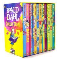 英文原版 罗尔德达尔全集15册套装Roald Dahl女巫好心眼儿圆梦巨人了不起的狐狸爸爸查理和巧克力工厂魔法手指 儿
