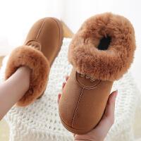 包跟棉鞋女厚底冬季防滑耐磨室内居家保暖情侣男士毛毛棉拖鞋外穿