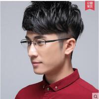 高清舒适轻盈渐进多焦点眼镜框超轻纯钛近视男士商务气质半框眼镜架