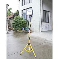 led投光灯三脚支架升降伸缩折叠户外照明移动式工作架双头灯支架 黄色