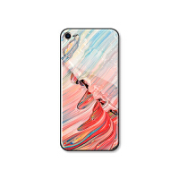 粉色大理石苹果7plus/X钢化玻璃手机壳iPhone 6s/8p镜面后盖女6软 6/6s(黑边玻璃壳)