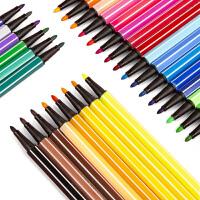 美术王国儿童水彩笔套装安全无毒可水洗幼儿园初学者手绘双头粗细软头记号笔小学生24色36色专业美术绘画画笔