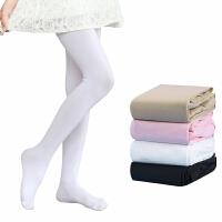 儿童连裤袜打底裤加绒连体丝袜白色舞蹈袜子