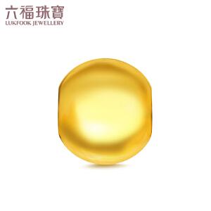 六福珠宝足金光面圆珠路路通转运珠黄金串珠吊坠   B01TBGP0009
