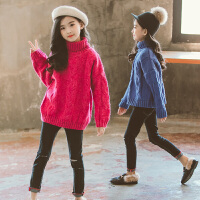女大童套头高领毛衣儿童秋冬打底针织衫