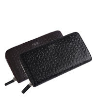 CK钱包长款男士正品CalvinKlein时尚经典压花logo拉链手拿包钱夹74287