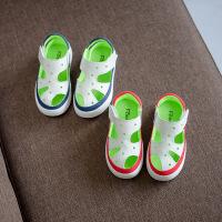 女童2男宝男宝宝包脚凉鞋儿童纯皮1-3岁夏季韩版宝贝男童夏天鞋子