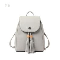 新款双肩包女韩版潮背包旅行包简约休闲学生书包zf 灰色