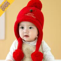宝宝帽子秋冬季6-12个月男女孩公主韩版儿童毛线帽1-2岁婴儿帽子