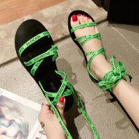 户外绑带凉鞋女韩版学生罗马时尚单鞋休闲百搭平底鞋