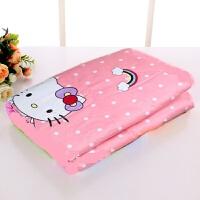 纯棉透气婴儿防水隔尿垫可洗孕产妇床辱防侧漏床垫 50*70 粉色系 小号