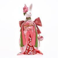 """音乐盒八音盒送女生创意生日樱花文艺清新七夕情人节礼物 粉色提包和服兔 音乐""""兔子"""""""
