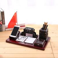 老板办公室桌面摆件装饰品创意文台笔筒摆设*礼品