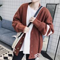 2018春季毛衣开衫情侣针织衫韩版潮学生宽松线衫男士外套