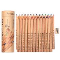 马可6100 书写原木学生绘画油性彩色铅笔手绘彩铅24/36/48色