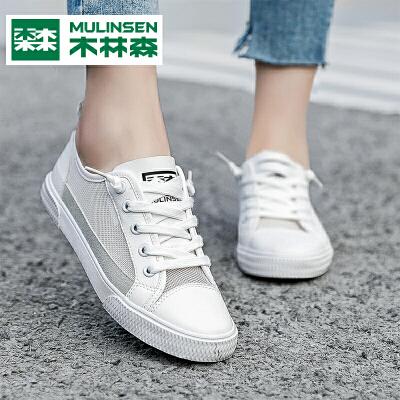 木林森女鞋2019秋季新款韩版百搭小白鞋女网面板鞋透气休闲运动鞋