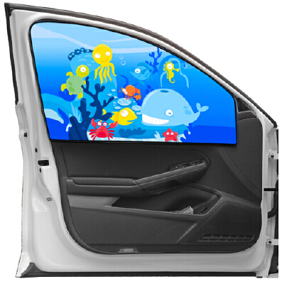 星德瑞拉(SUNDRILA) 创意卡通磁性车内车窗帘 防晒隔热可伸缩遮光板