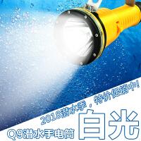 专业摄影灯潜水补光手电筒水下强光防水充电远射船用