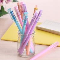 韩国文具清新果冻中性笔 糖果色水笔签字笔极细0.38mm