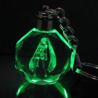 动漫周边模型 Q版LED七彩水晶灯钥匙扣挂件 买就送备用电池一套