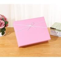 长方形生日包装盒粉色礼品盒少女心礼物盒大号粉嫩礼盒定制印logo