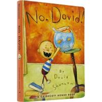 【首页抢券300-100】Scholastic No, David! 大卫,不可以!经典绘本 习惯养成 亲子读物 纸板书