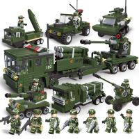儿童积木拼装玩具益智6-7-8-10岁男孩子智力军事坦克模型
