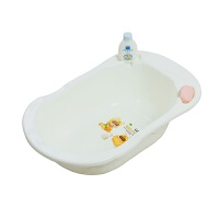 {夏季贱卖}婴儿不可折叠宝宝洗澡盆儿童新生儿便携可坐躺小号加厚沐浴桶 乳白色浴盆