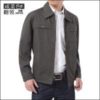 中老年男装男士夹克衫男式全棉春秋装休闲夹克外套外套薄款爸爸装