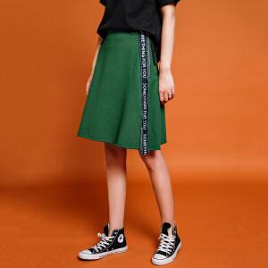七格格初秋女时尚秋季半身裙2017新款女装潮韩版百搭女士时髦运动该链接仅含单件半身裙