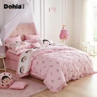 多喜爱新品全棉三/四件套纯棉卡通床上用品樱桃小丸子之甜甜樱桃子
