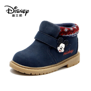 【达芙妮超品日 2件3折】达芙妮集团 迪士尼 冬新款加绒休闲卡通短靴男童