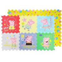 小猪佩奇儿童宝宝爬行垫加厚婴儿泡沫地垫客厅拼接双面爬爬垫2cm跳绳图案6片
