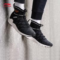 李宁休闲鞋男鞋新款Planet保暖一体织袜子鞋情侣鞋时尚运动鞋AGLN007
