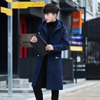 秋冬季男士毛呢大衣韩版修身中长款风衣男装呢子外套男