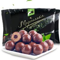 俄罗斯进口零食黑美人巧克力夹心糖果1000g 散装结婚喜糖批发包邮