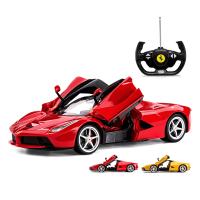 男孩儿童玩具跑车遥控汽车可开门方向盘充电动遥控赛车