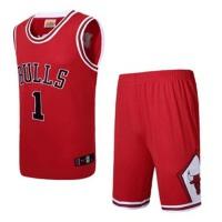 公牛队罗斯1号球衣红色白色篮球服1号罗斯24号科比3号艾弗森35号杜兰特2号欧文23号詹姆斯23号乔丹