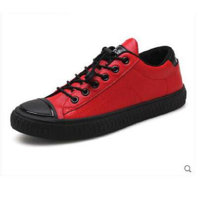 新款平底板鞋网红同款男士休闲皮鞋懒人潮鞋韩版潮流百搭社会男鞋 品质保证 售后无忧