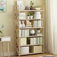 实木书架置物架落地简约桌上多层省空间学生家用客厅收纳儿童书柜