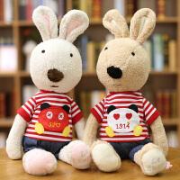 小白兔布娃娃女孩玩偶小兔子毛绒玩具可爱兔兔公仔毛绒玩具砂糖兔